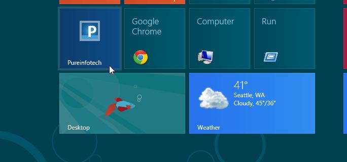 Open Windows 8 pinned website tiles on desktop IE