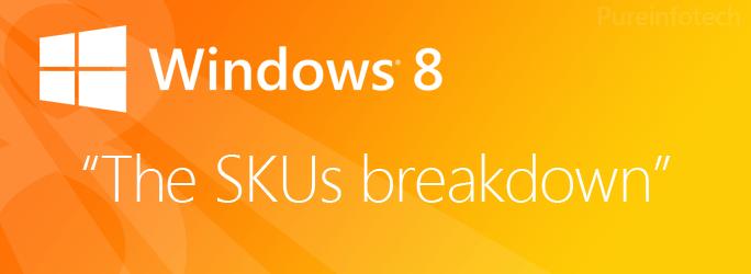 Windows 8 vs. Windows 8 Pro vs. Windows RT vs. Windows 8 Enterprise SKUs