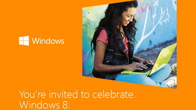 Windows 8 launch invitation