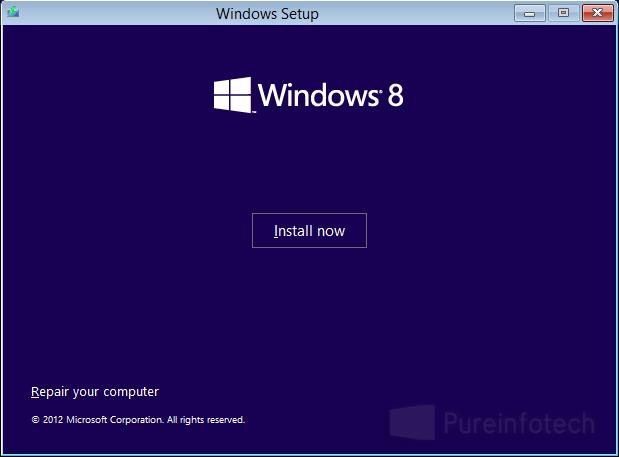 Install Win 8