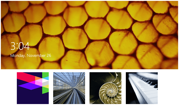 Lock screen images for Win 8