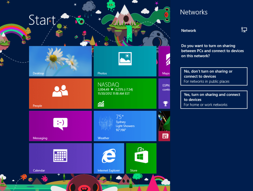 Win 8 screenshot