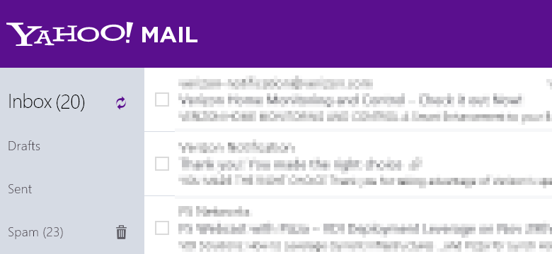 Win8 Yahoo mail app