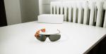 orange google glass on table