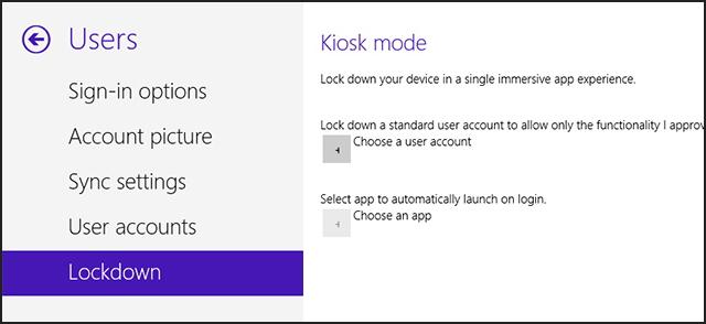 Kiosk Mode - Windows 8.1 build 9374
