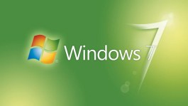 Windows 7 logo with green background