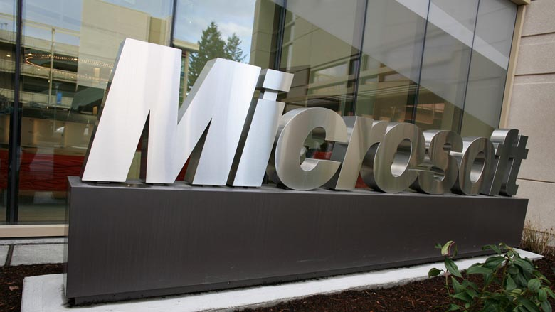 Microsoft sign - metal color