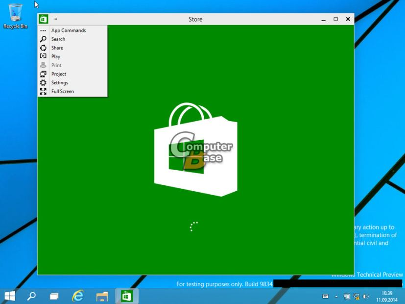 Windows 9 Technical Preview build 9834 leak: analyzing the features