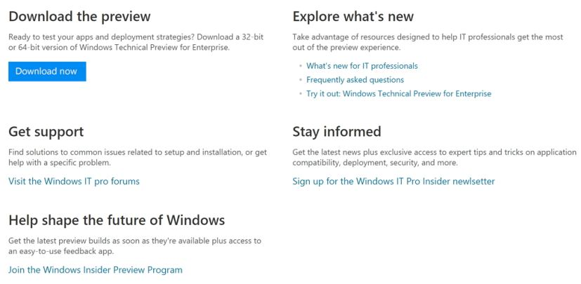 Windows Insider Preview Program