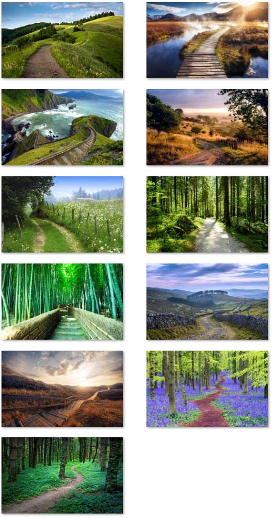 Footpath landscape wallpapers