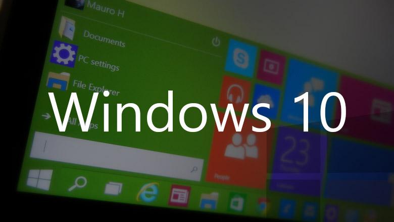Windows 10 Start menu green with logo