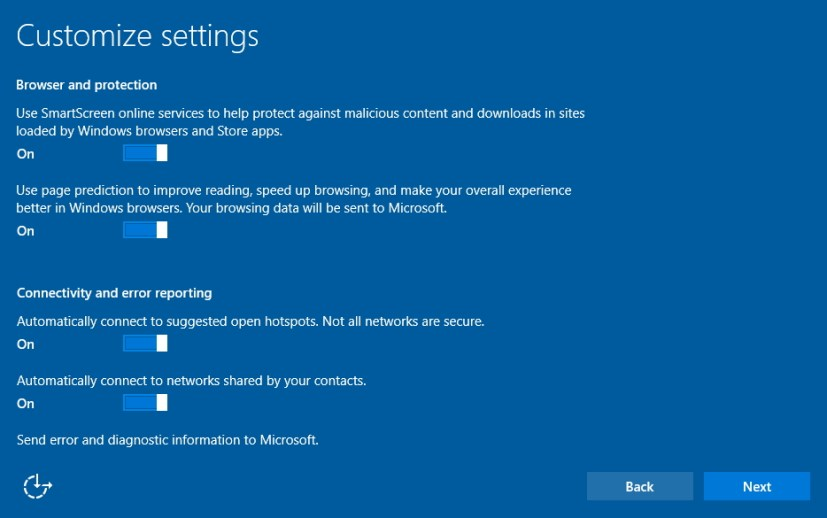 Customize more settings during Windows 10 clean installation