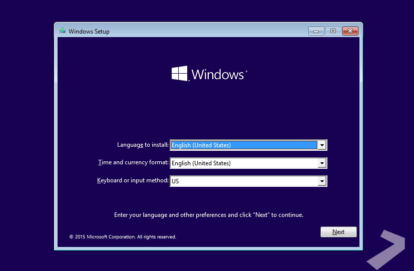 Windows Setup UI