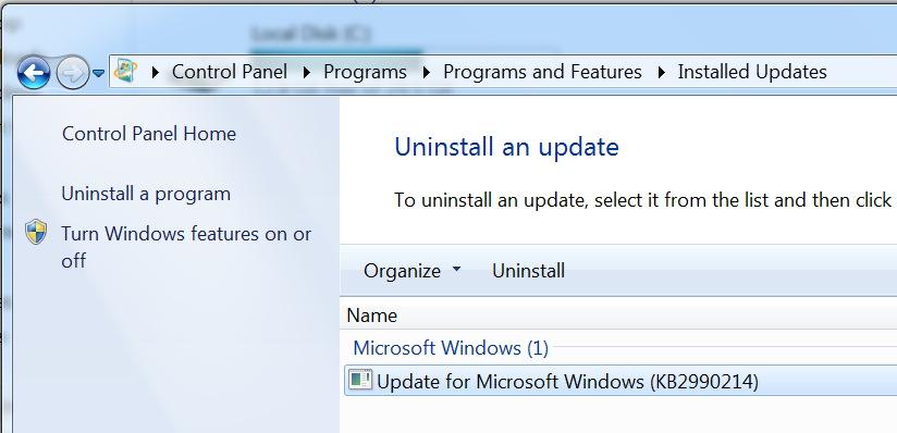 KB2990214 update