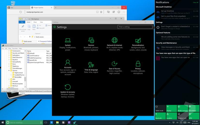 Windows 10: How to enable the hidden dark theme • Pureinfotech