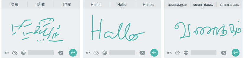 Handwriting on an Android device
