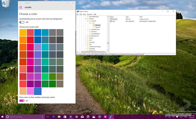 Windows 10 custom accent colors