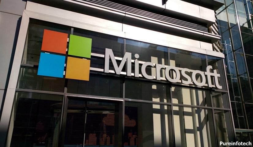 Microsoft Corporation logo in NYC