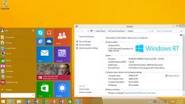Start menu for Windows RT 8.1 (KB3033055)