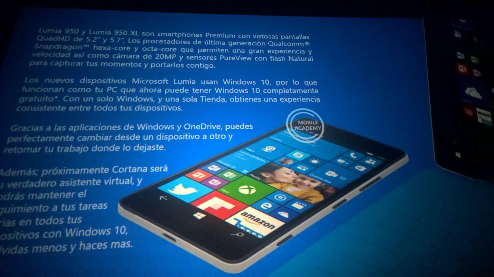Lumia 950/950XL information