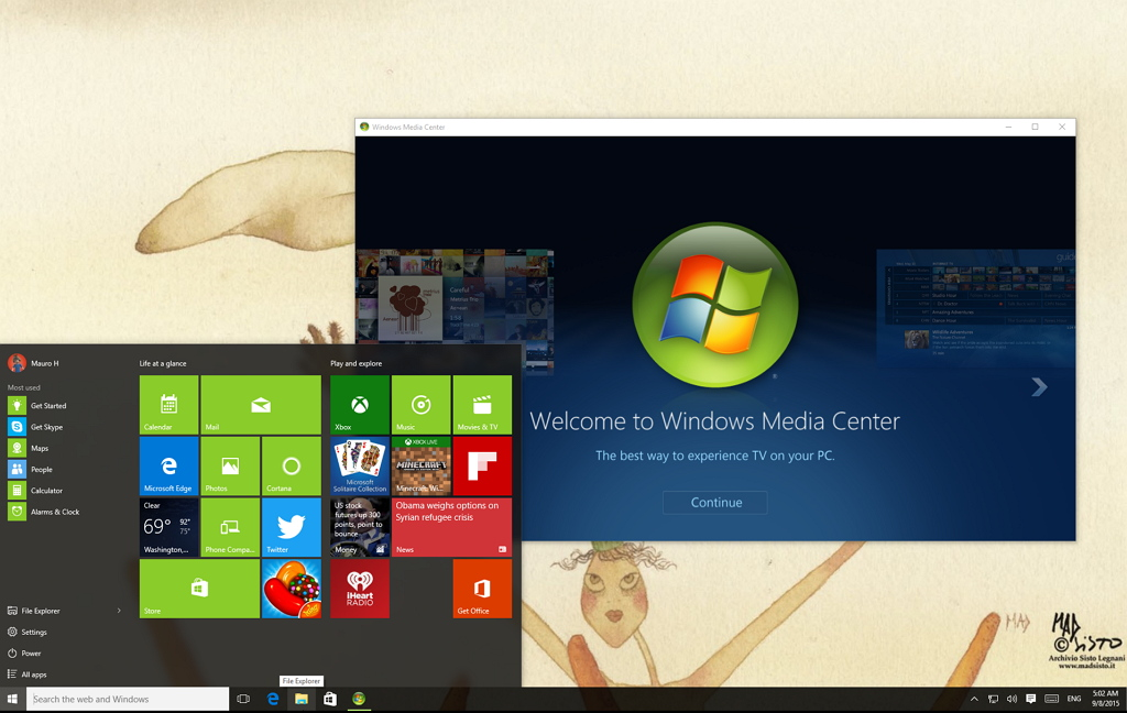 Installing Windows Media Center in Windows 10