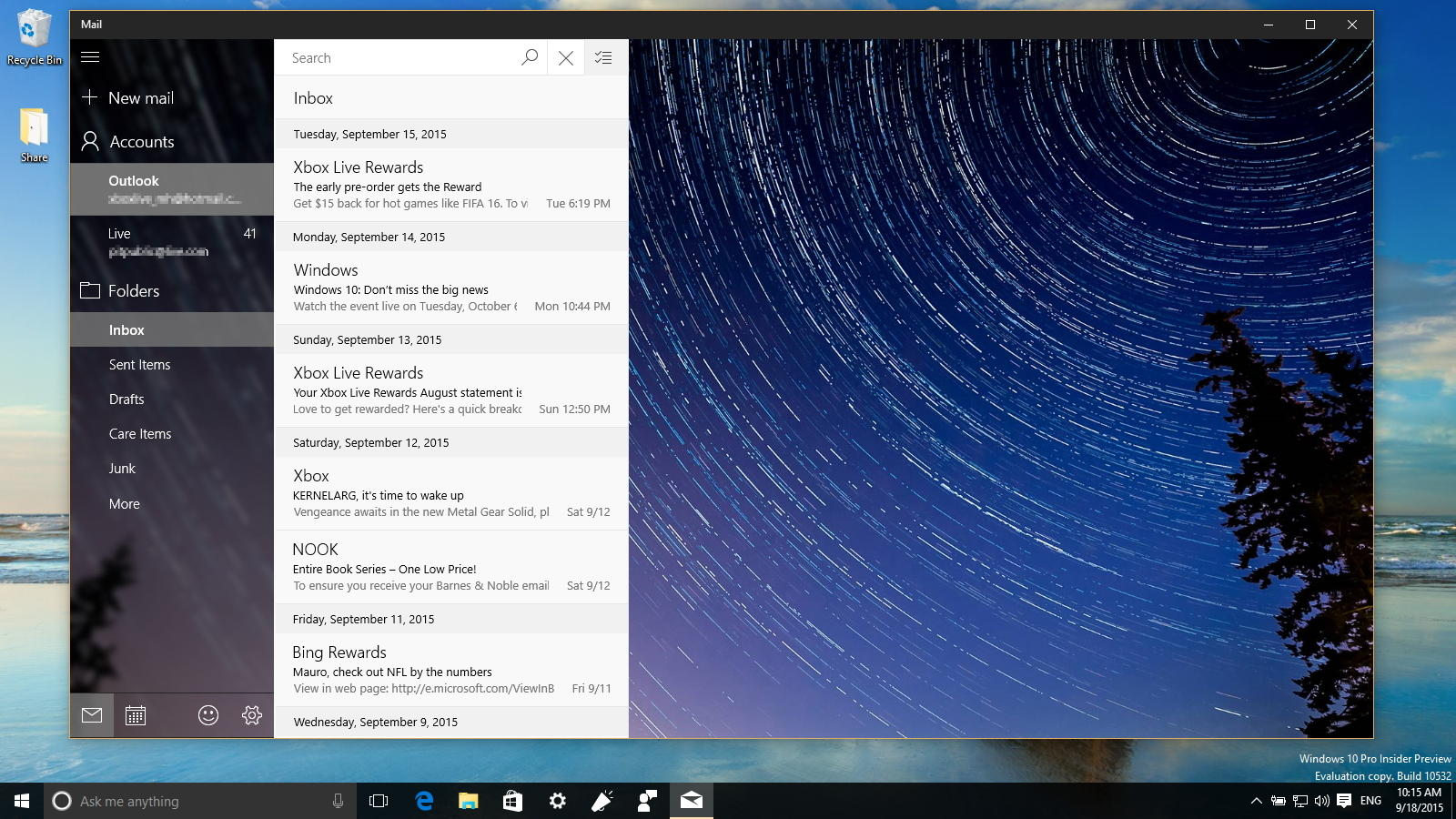 Calendar Wallpaper Windows : Outlook mail and calendar updated with dark theme ui