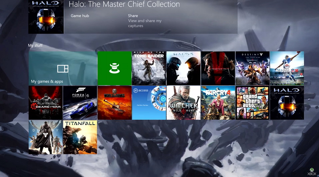 New Xbox One Experience (NXOE) build 10586 November 12, 2015