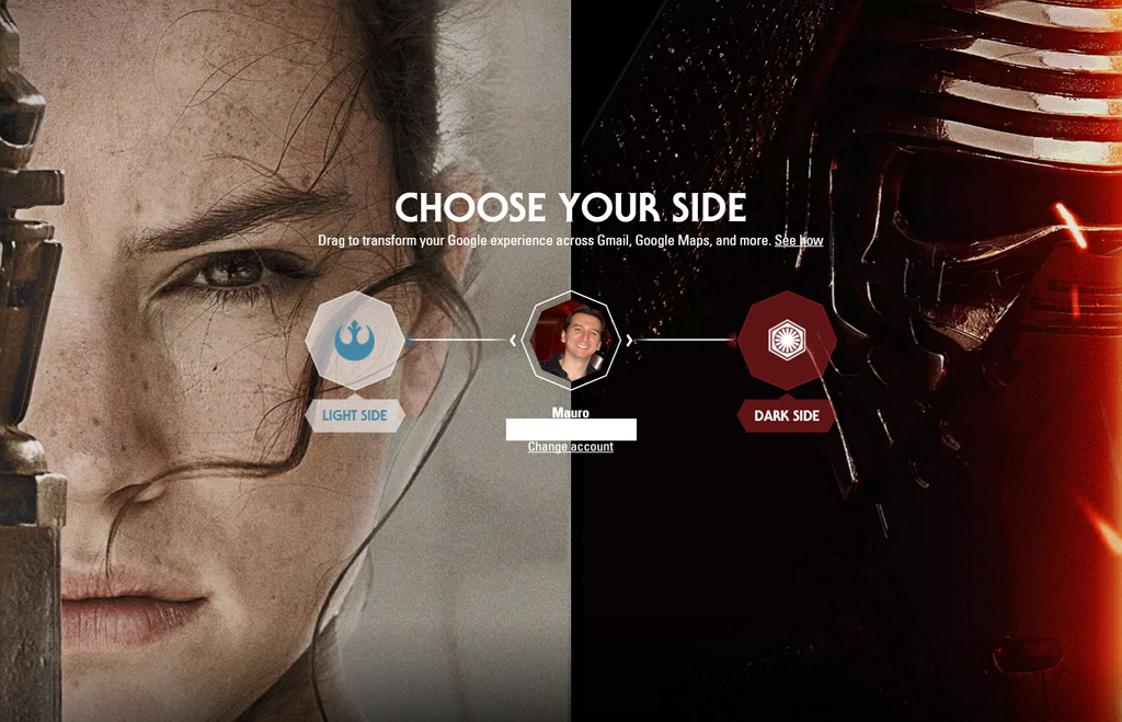 Remove the Star Wars theme from your Google account and services