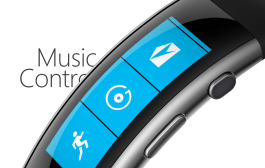 Microsoft Band 2 music controls