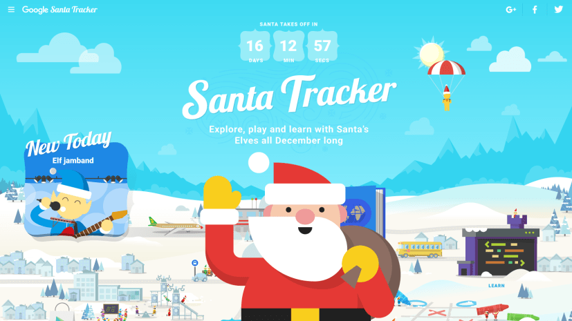 Santa Tracker Village with Santa