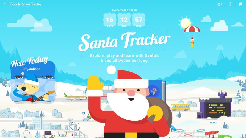 Santa Tracker Village with Santa