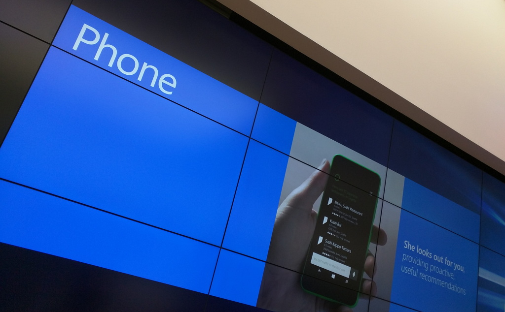 Windows 10 Mobile handset sign