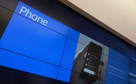 Windows 10 Mobile handset sign