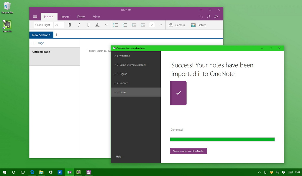 Microsoft OneNote importer for Evernote