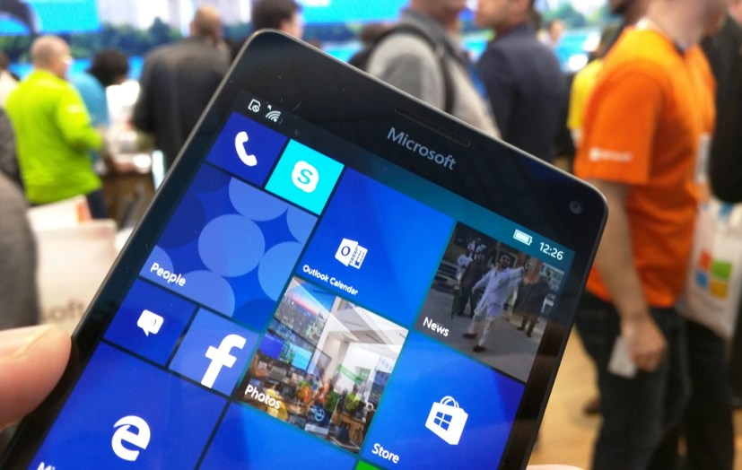 Windows 10 Mobile handset at the Microsoft Store NYC