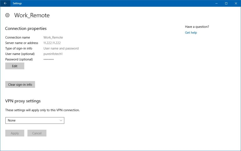 how to change vpn on windows 10
