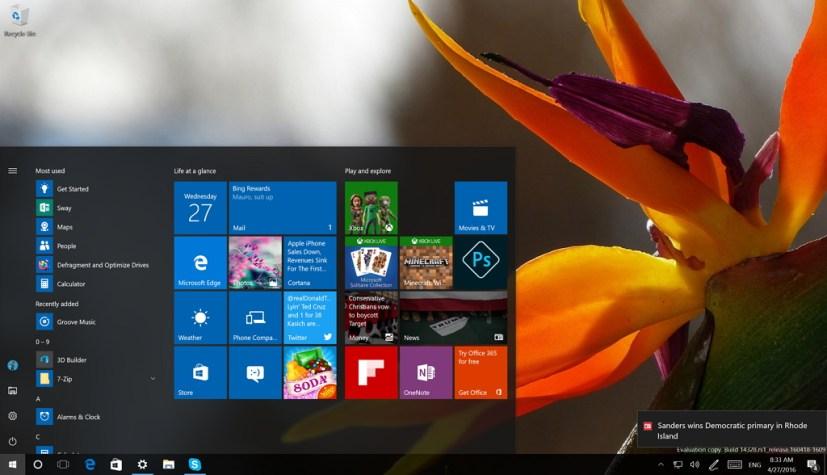 Windows 10 build 14328 & 14332 video tour