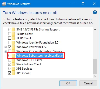 Windows Subsystem for Linux (Beta)