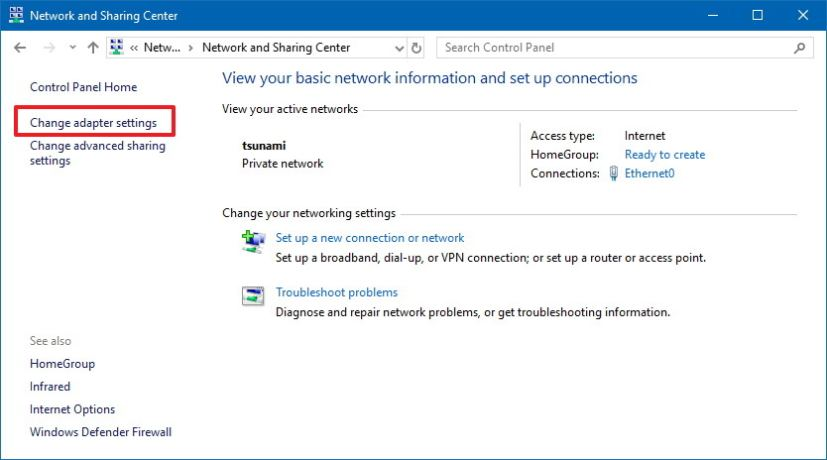how to make public network private windows 10