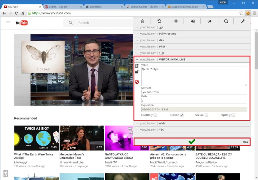 Change YouTube cookie to try new Material Design UI