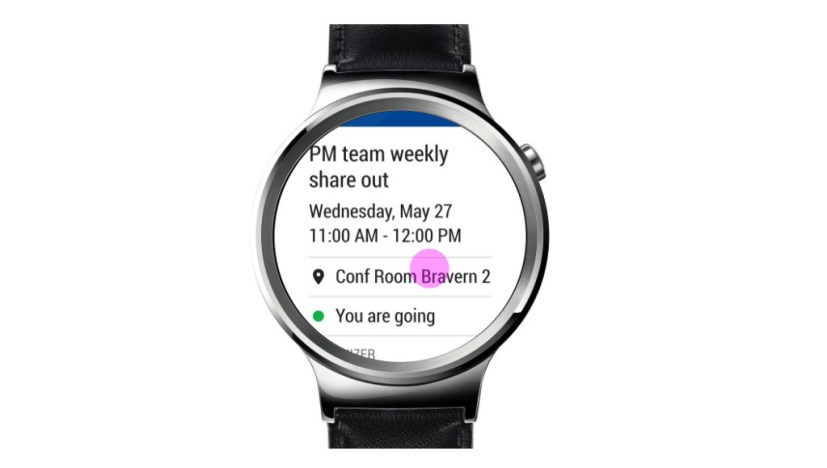 Outlook watch face calendar event