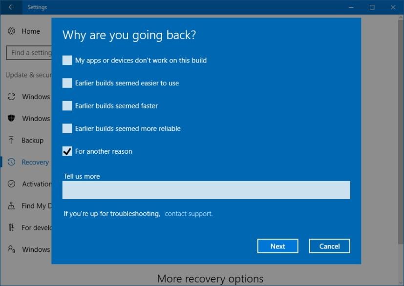 How To Uninstall Windows 10 Version 1803  April 2018 Update   U2022 Pureinfotech