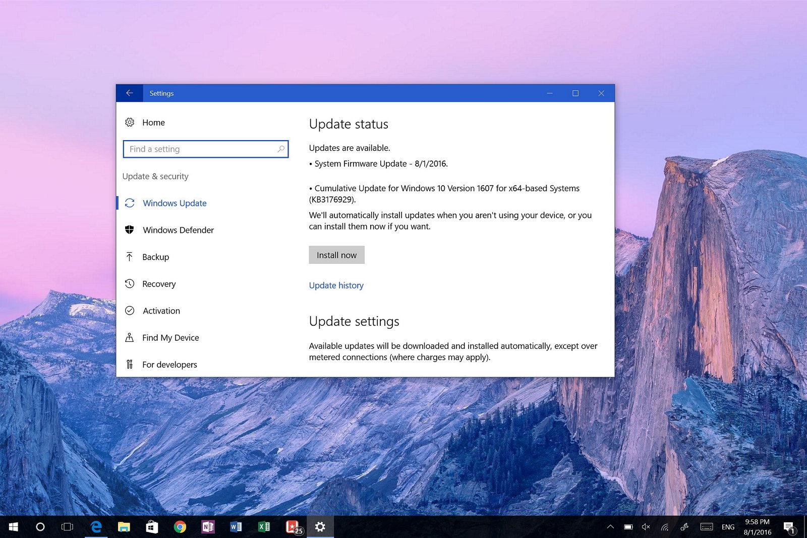 KB3176929 Windows 10 Anniversary Update