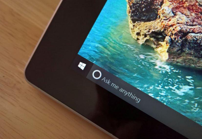 Cortana in the Windows 10 taskbar