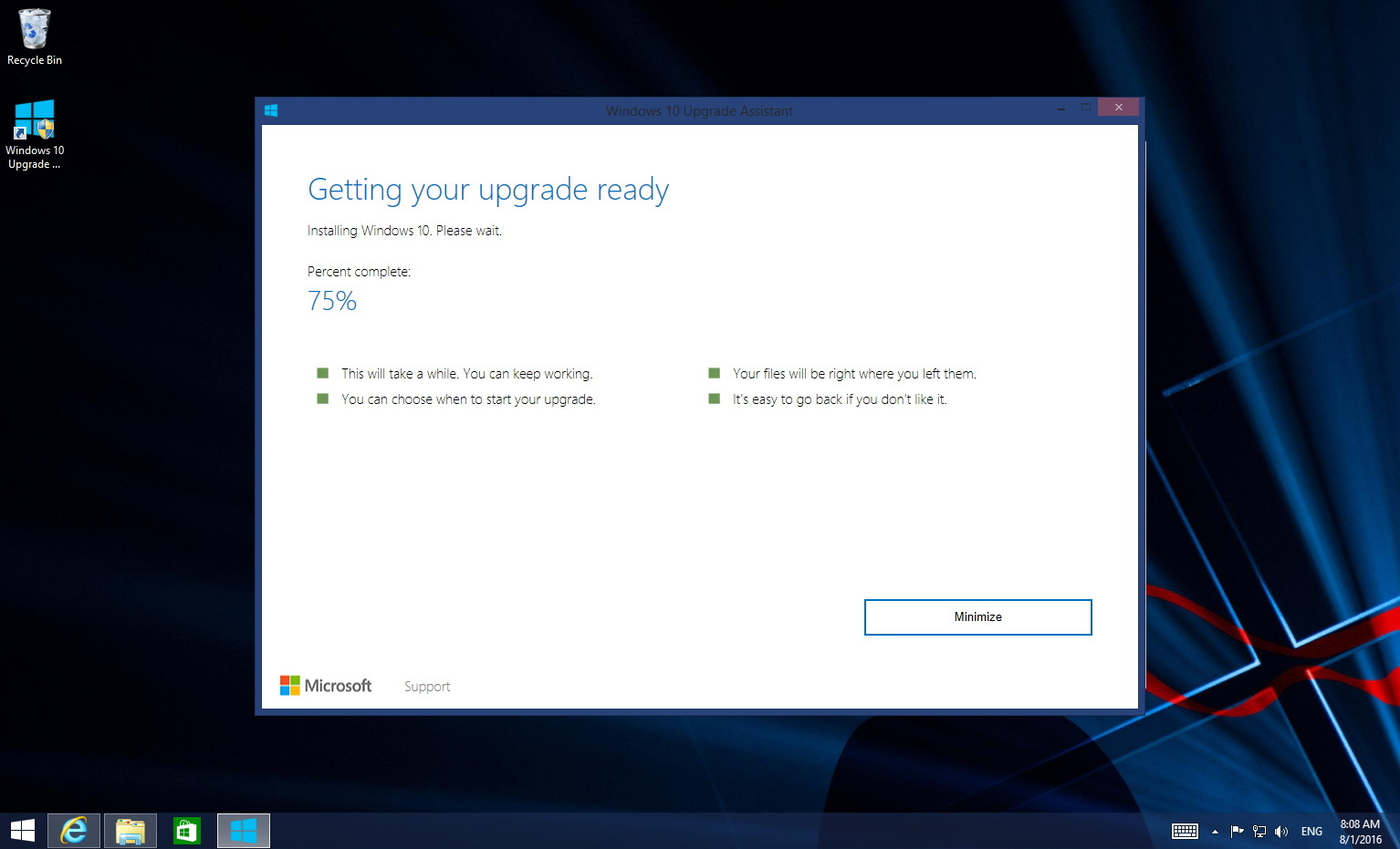 Free Windows 10 Upgrade trick
