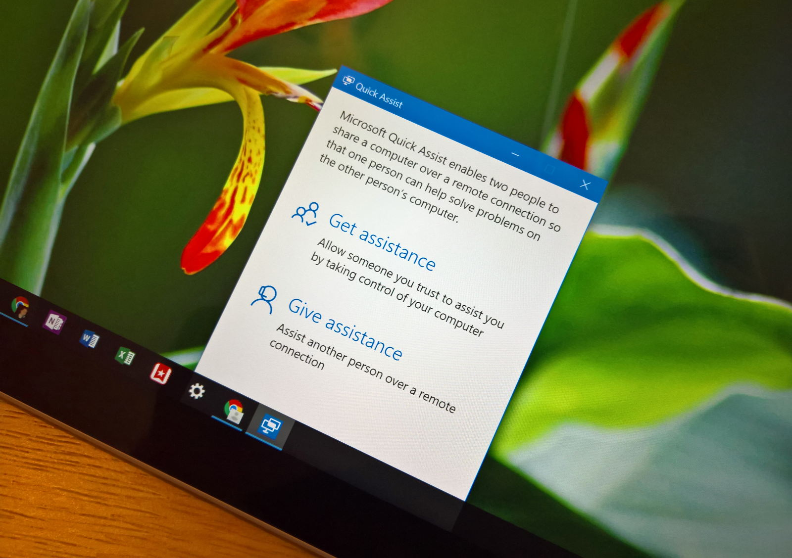 Microsoft Quick Assist remote assistance app for Windows 10