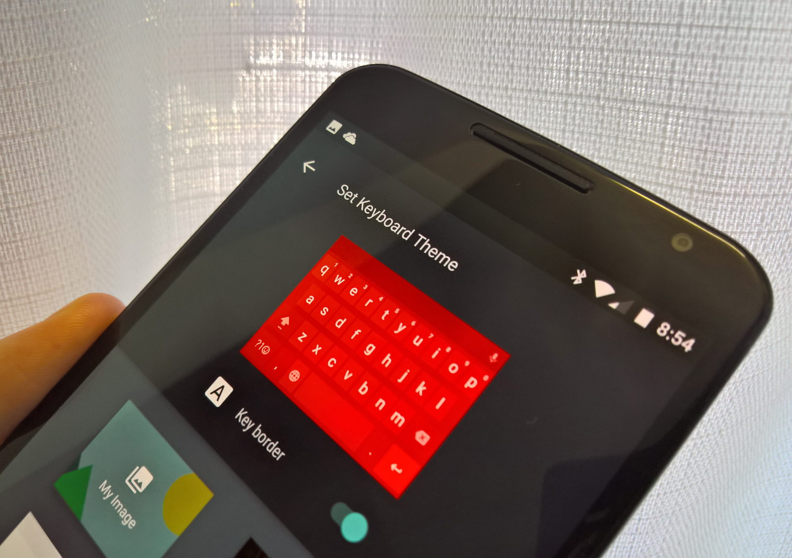 Set keyboard theme on Android
