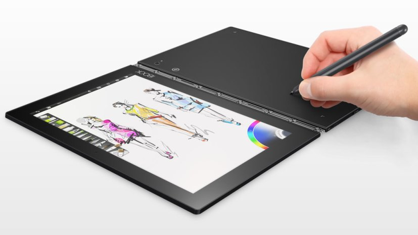 Lenovo Yoga Book writing mode