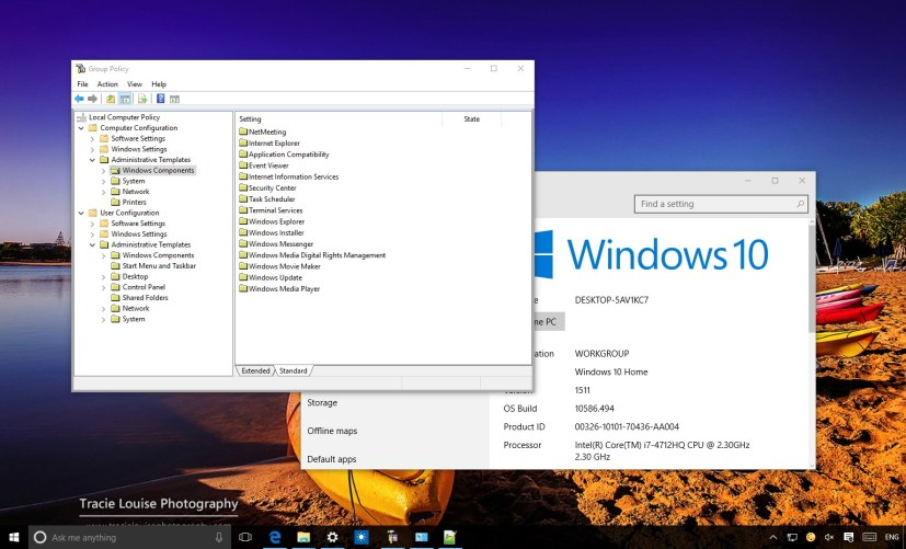 Windows 10 Home Group Policy Editor