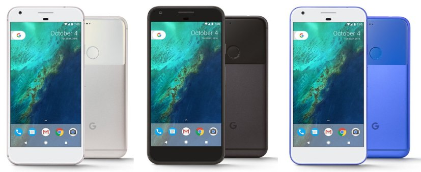 """Google Pixel colors: """"very silver,"""" """"quite black,"""" """"really blue"""""""
